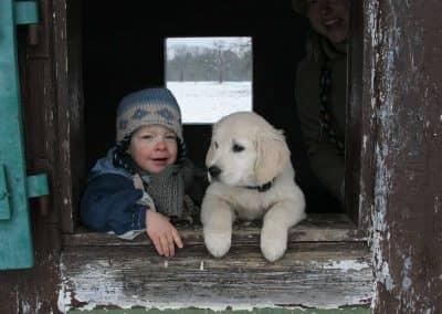 Fin mit Hund