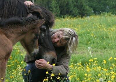 Michaela mit Pferd